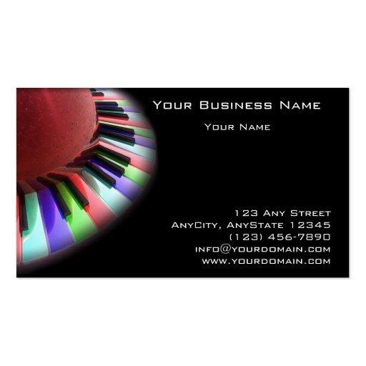 Caos del teclado brillante en negro plantilla de tarjeta de negocio