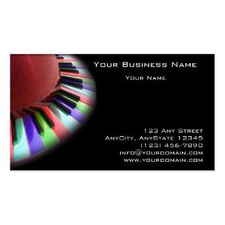 Caos del teclado brillante en negro tarjetas de visita