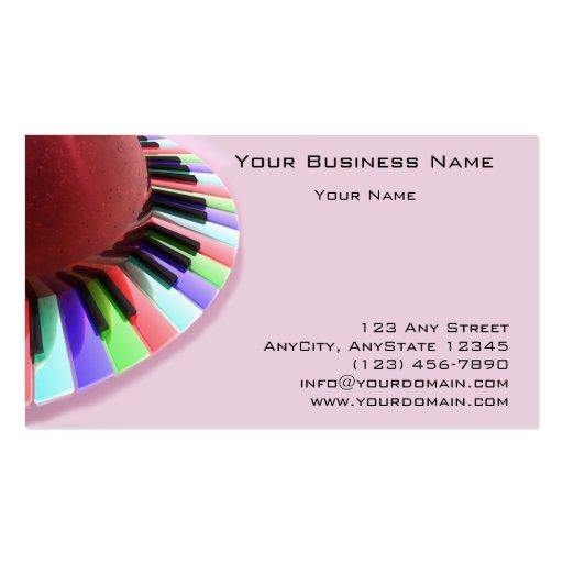 Caos del teclado brillante en rosa tarjeta de visita