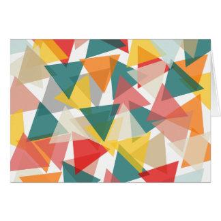 Caos geométrico del estilo escandinavo tarjeta de felicitación