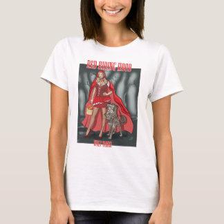 Capa con capucha roja - lobo más doméstico camiseta