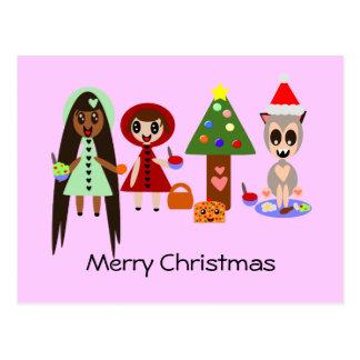 Capa con capucha roja, Rapunzel en la fiesta de Na Postal