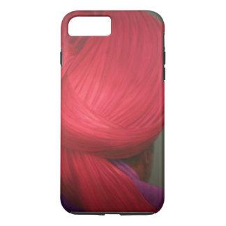 Capa roja de la púrpura del turbante funda iPhone 7 plus