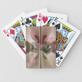 Capa rosa clara del botón de cristal moderno del baraja de cartas
