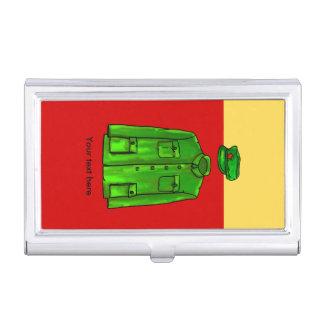 Capa y gorra verdes de Mao del presidente del Caja De Tarjetas De Visita