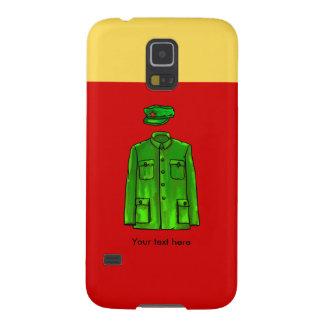 Capa y gorra verdes de Mao del presidente del Carcasa Galaxy S5