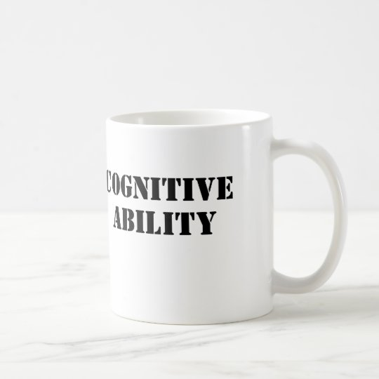 Capacidad cognoscitiva taza de café