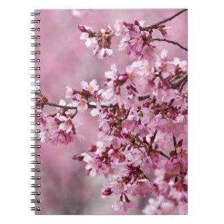 Capas del rosa en colores pastel de las flores de cuaderno