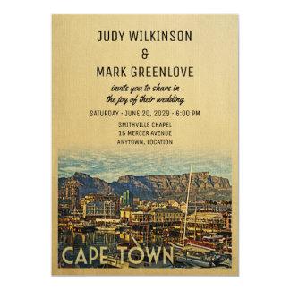 Cape Town que casa la invitación Suráfrica