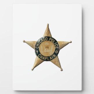 Capellán de la policía de Chicago Placa Expositora