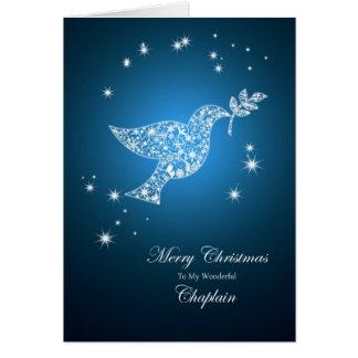 Capellán, paloma de la tarjeta de Navidad de la