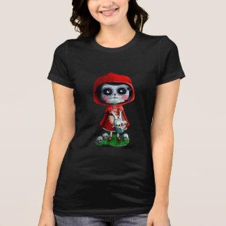 Caperucita Rojo de Dia de los Muertos Camiseta