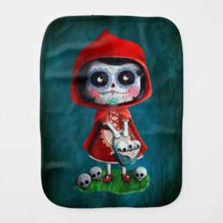 Caperucita Rojo de Dia de los Muertos Paños Para Bebé