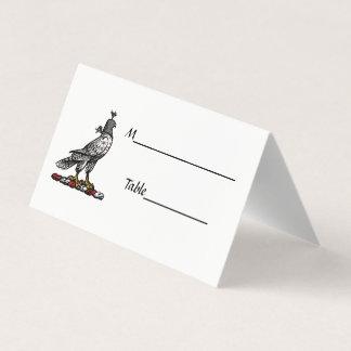 Capilla C del casco del halcón heráldico de la Tarjeta De Asiento