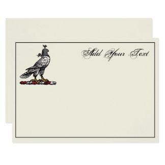 Capilla C Ivry del casco del halcón heráldico de Invitación 12,7 X 17,8 Cm