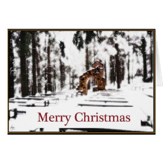 Capilla de las maderas en una tarjeta de Navidad