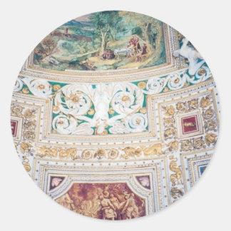 Capilla de Sistine - pegatinas Etiquetas Redondas