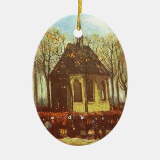 Capilla en los religiosos practicantes de Nuenen w Ornamento Para Arbol De Navidad