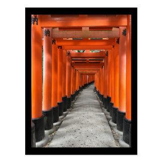 Capilla Kyoto, Japón de Fushimi Inari Taisha Postal