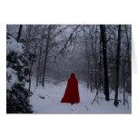 Capilla roja tarjeta de felicitación
