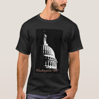 Capital del Washington DC de B&W Camiseta