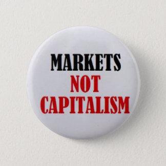 Capitalismo de los mercados no chapa redonda de 5 cm