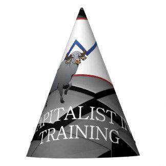 Capitalista de la CAMISETA en el entrenamiento Gorro De Fiesta