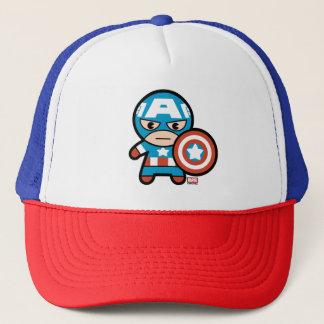 Capitán América de Kawaii con el escudo Gorra De Camionero