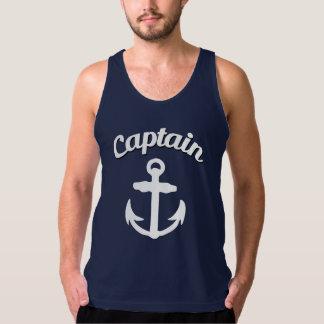 Capitán Anchor Funny Men's Camiseta De Tirantes