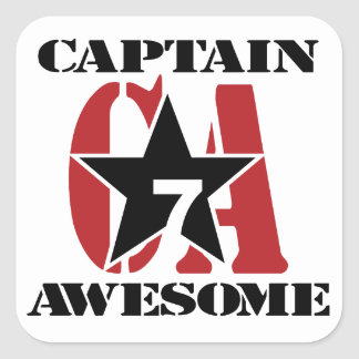 Capitán Awesome - propaganda Pegatina Cuadrada