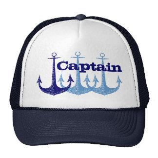 Capitán azul del ancla gorras