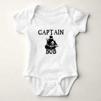 Capitán Bob (barco pirata) Body Para Bebé
