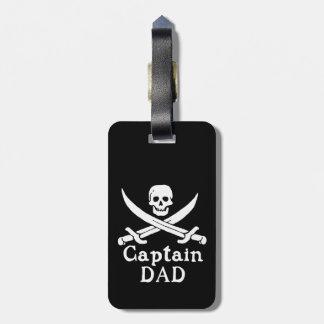 Capitán Dad - obra clásica Etiqueta Para Maletas