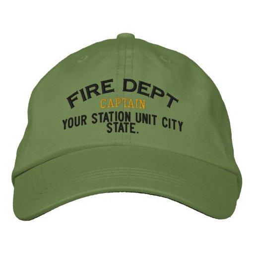 Capitán Firefighter Hat de Personalizable Gorra Bordada