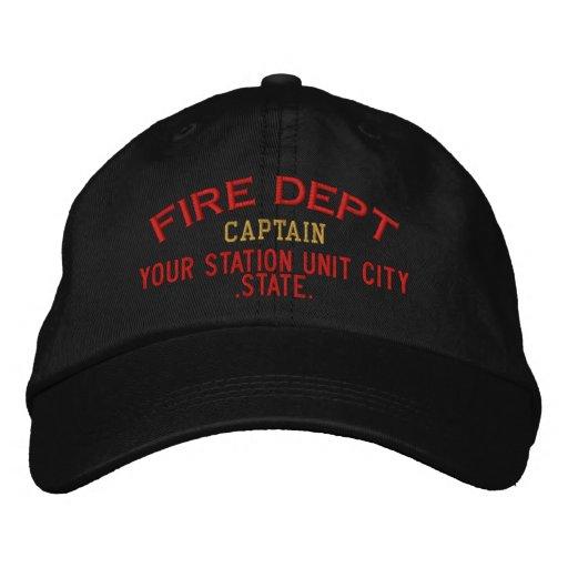 Capitán Firefighter Hat de Personalizable Gorras De Beisbol Bordadas