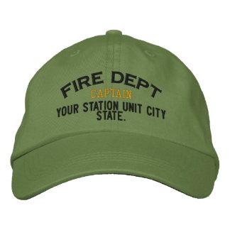 Capitán Firefighter Hat de Personalizable Gorra De Beisbol Bordada