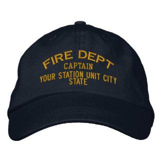Capitán Firefighter Hat de Personalizable Gorras Bordadas