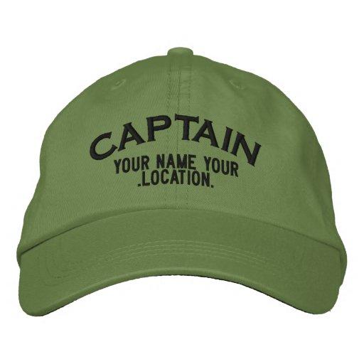Capitán Hat de Personalizable Gorra De Beisbol Bordada