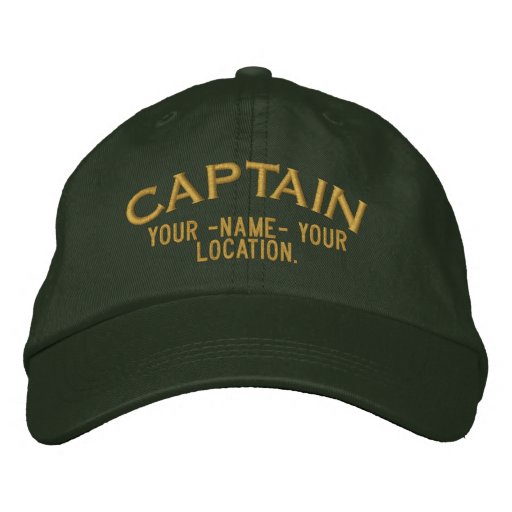 Capitán Hat de Personalizable Gorra De Béisbol Bordada
