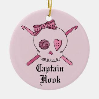 Capitán Hook Skull y ganchos de ganchillo (parte p Ornamentos De Reyes Magos