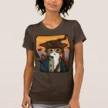 Capitán Leo, gato del pirata y camiseta del arte