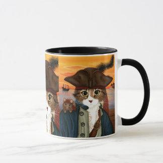 Capitán Leo, gato del pirata y taza del arte de la