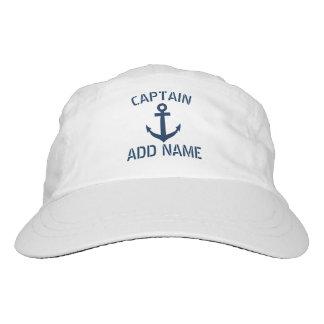 Capitán náutico del barco del ancla de los azules gorra de alto rendimiento