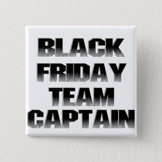 Capitán negro del equipo de viernes chapa cuadrada