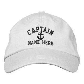 Capitán - personalizable gorra de beisbol bordada