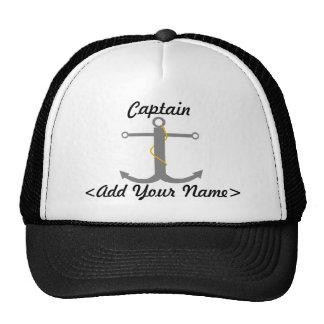 Capitán personalizado Hat Gorros Bordados