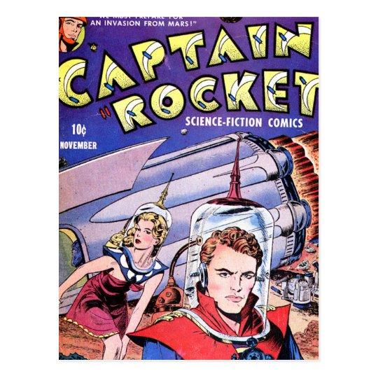 Capitán Rocket Comic Postal