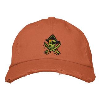 Capitán Skull Embroidered Cap del pirata Gorras Bordadas