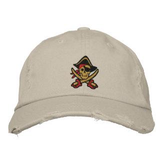 Capitán Skull Embroidered Cap del pirata Gorra De Béisbol Bordada