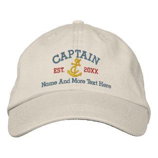 Capitán With Anchor Personalized Gorros Bordados